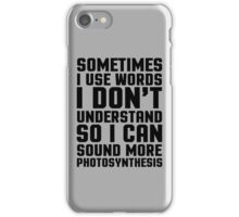 Words I Don't Understand Funny Quote iPhone Case/Skin
