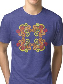 Firery Swirls Tri-blend T-Shirt