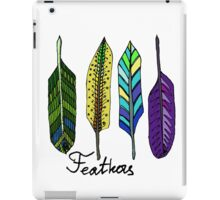 Hand drawn ink feathers set. iPad Case/Skin