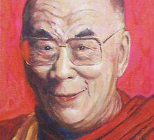 His Holiness the Dalai Lama by LesliesArt