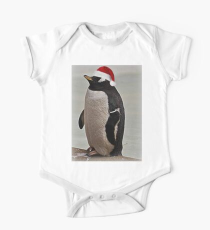Merry Christmas Mr Penguin One Piece - Short Sleeve
