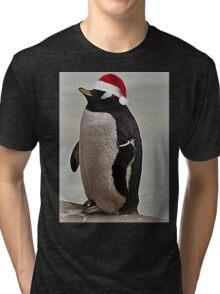 Merry Christmas Mr Penguin Tri-blend T-Shirt