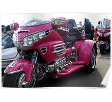 Gold Wing Pink Poster