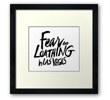 Fear and Loathing in Las Vegas - BLACK  Framed Print