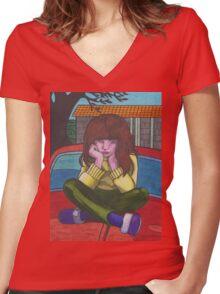 Little Kate Women's Fitted V-Neck T-Shirt