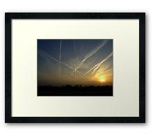 Sky Traffic Framed Print