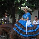 Charro lady - horsewoman in Puerto Vallarta by Bernhard Matejka
