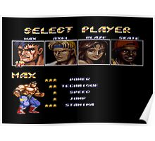 Streets of Rage 2 – Select Max Poster