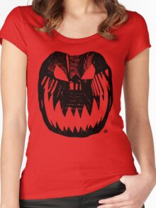 Halloween Stencil Women's Fitted Scoop T-Shirt