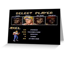 Streets of Rage 2 – Select Axel Greeting Card