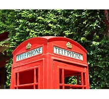 English Phone Box Lincoln Road Photographic Print
