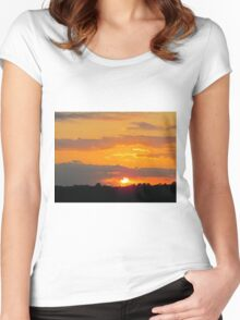 Sun Making A Funny Face Women's Fitted Scoop T-Shirt
