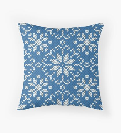 Knitted winter jacquard Throw Pillow