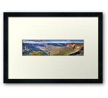 Simply Iresistable - Govetts Leap, Blue Mountains, Sydney (30 Exposure HDR Panorama) - The HDR Experience Framed Print