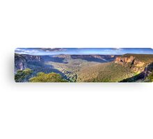 Simply Iresistable - Govetts Leap, Blue Mountains, Sydney (30 Exposure HDR Panorama) - The HDR Experience Canvas Print