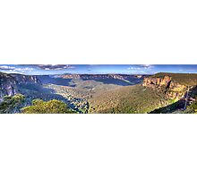 Simply Iresistable - Govetts Leap, Blue Mountains, Sydney (30 Exposure HDR Panorama) - The HDR Experience Photographic Print