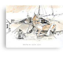 Cabrillo Boat Works: San Pedro Ca Canvas Print