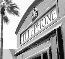 Old English Phone Booth Lincoln Road by Rene  Triay