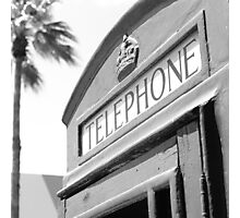 Old English Phone Booth Lincoln Road Photographic Print