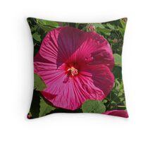 Raging Red Hibiscus. Throw Pillow
