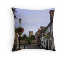 Castle Street, Warwick Throw Pillow