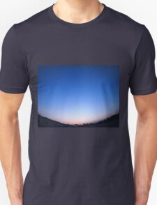 Clear skies over the city after sunset Unisex T-Shirt