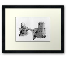 Mostar Old Bridge, from the north side Framed Print