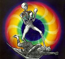 Psychedelic Skeleton Boxer by doomarchivist