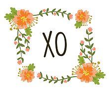 Floral XO Wreath by Kristin Sheaffer