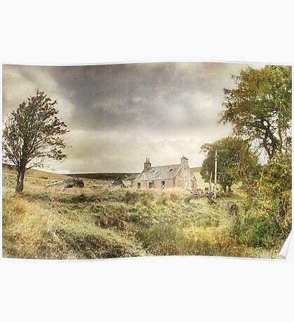 Abandoned Scottish Croft Poster