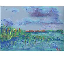 Clouds and Water, Grass and Sky (pastel) Photographic Print