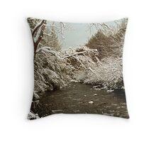 LITTLE RIVER, WINTER Throw Pillow
