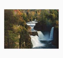 Three Watefalls at Ausable Chasm Autumn One Piece - Short Sleeve
