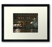 Night promenade at Rialto Framed Print