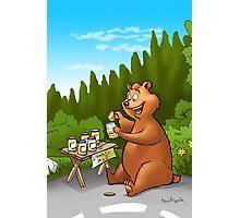 A very very happy bear Photographic Print