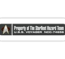Property of Starfleet Hazard Team Voyager LCARS Version Sticker