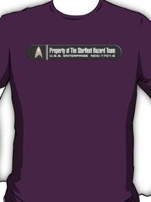 Property of Starfleet Hazard Team Enterprise-E LCARS Version T-Shirt