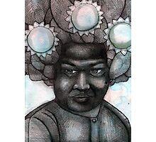 Sai Baba of the Three Suns Photographic Print