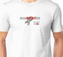 Beat Diabetes with a DiaBEATes Attitude Unisex T-Shirt