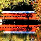 Sach's Covered Bridge in Autumn, Gettysburg by AngieDavies