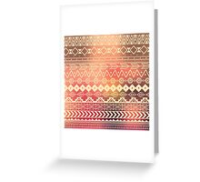 Aztec pattern 01 Greeting Card