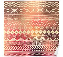 Aztec pattern 01 Poster