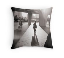 Hiroshima walk Throw Pillow
