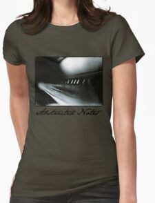 Abstracted Notes Womens Fitted T-Shirt