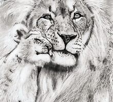 proud father ...pencil drawing by danijelg