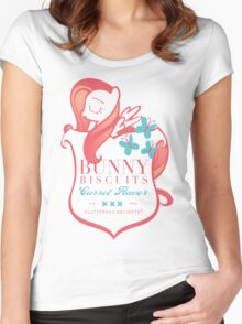 Fluttershy's Bunny Biscuits Women's Fitted Scoop T-Shirt