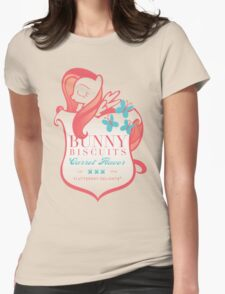 Fluttershy's Bunny Biscuits Womens Fitted T-Shirt