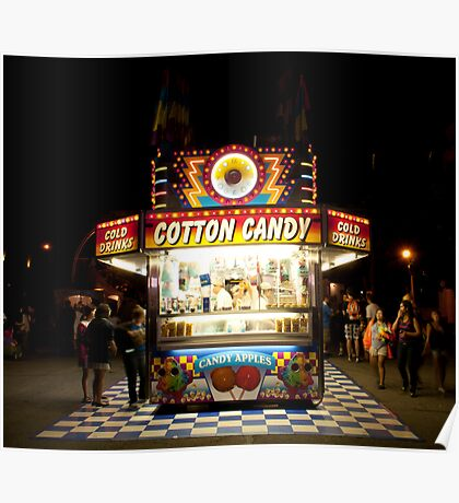 Cotton Candy & Candy Apple Stand Poster