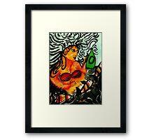 Mermaid. watercolor Framed Print