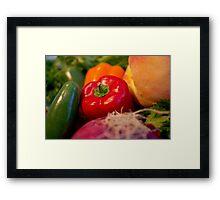 Peach Salsa Framed Print